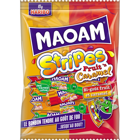 MAOAM Stripes Fruit caramel sachet 200g image number null